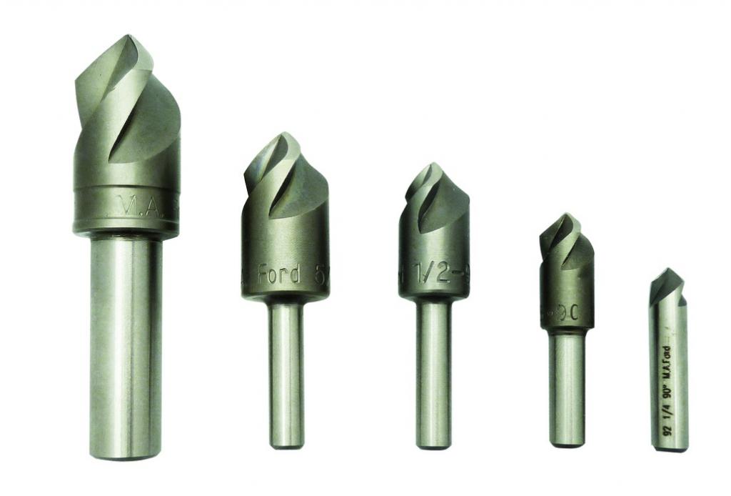 Fraise à lamer \ à chanfreiner : Acier HSSE 90° spécial inox - à triple tranchant