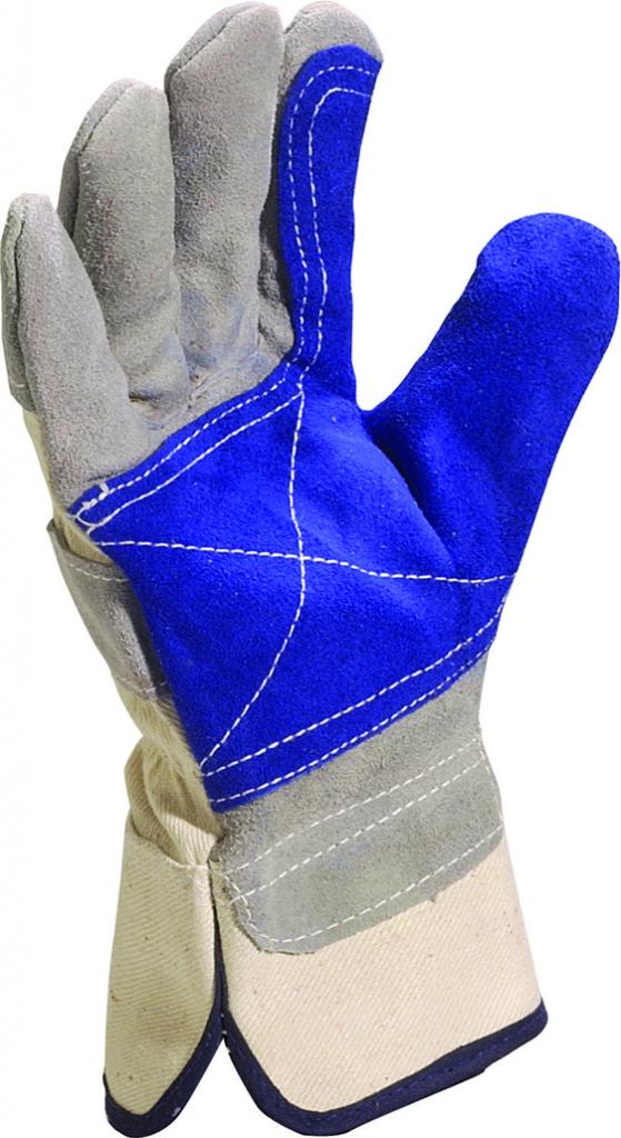 Gants docker : Cuir croûte de bovin doublure toile coton