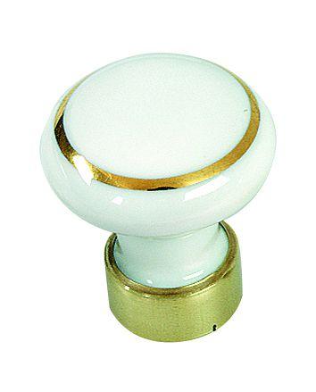 Garniture classique : Bombé - porcelaine blanche avec filet or