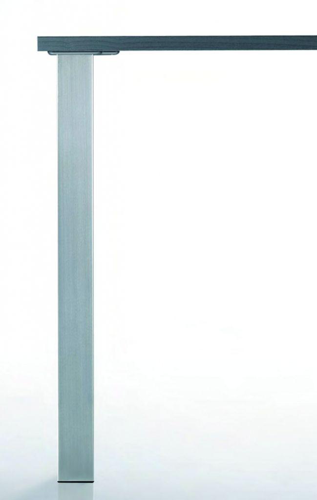 Pied de table carré : Carré 60 mm
