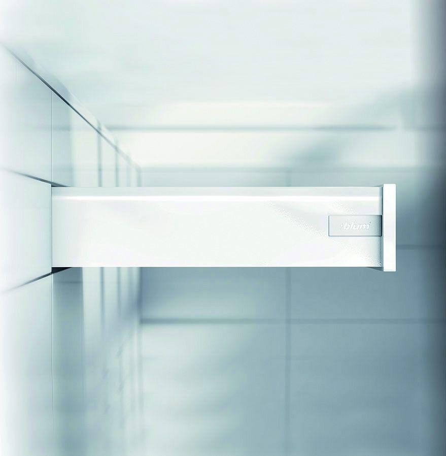 Kit tiroir double paroi Blum - antaro - TIP-ON : Kit antaro TIP-ON hauteur K : 130,5 mm - blanc