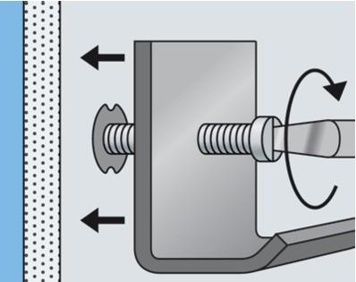 Cheville pour fixation légère : Cheville métallique pour corps creux HM
