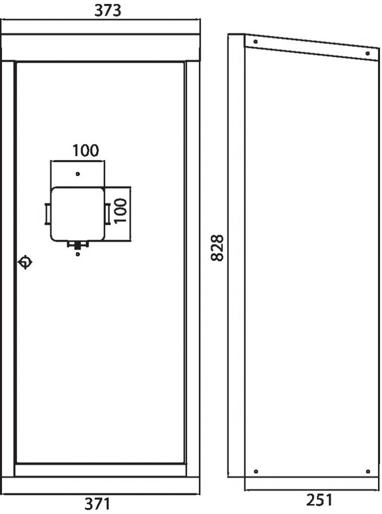 Prévention : Guérite extincteur 6/9 kg