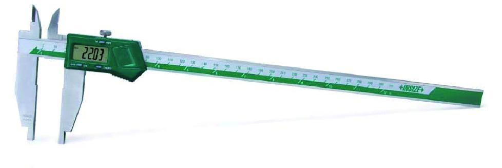 Pied à coulisse digital pour mesure intérieure et extérieure : Acier inoxydable - lecture 0,01 mm - becs inter/exter