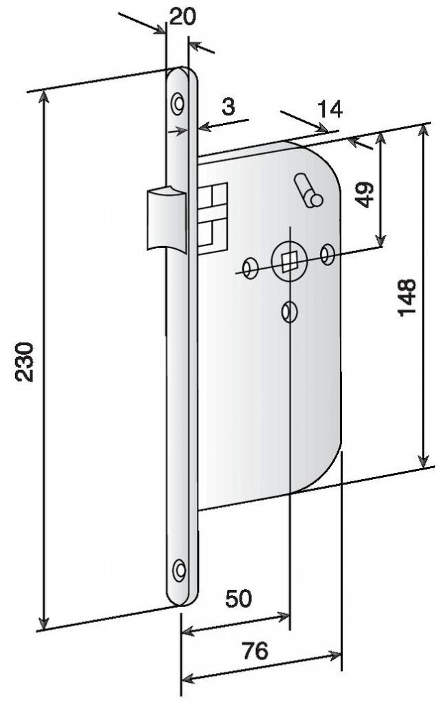Serrure à larder pour porte d'intérieur : Série 900 Bricard - NF QC