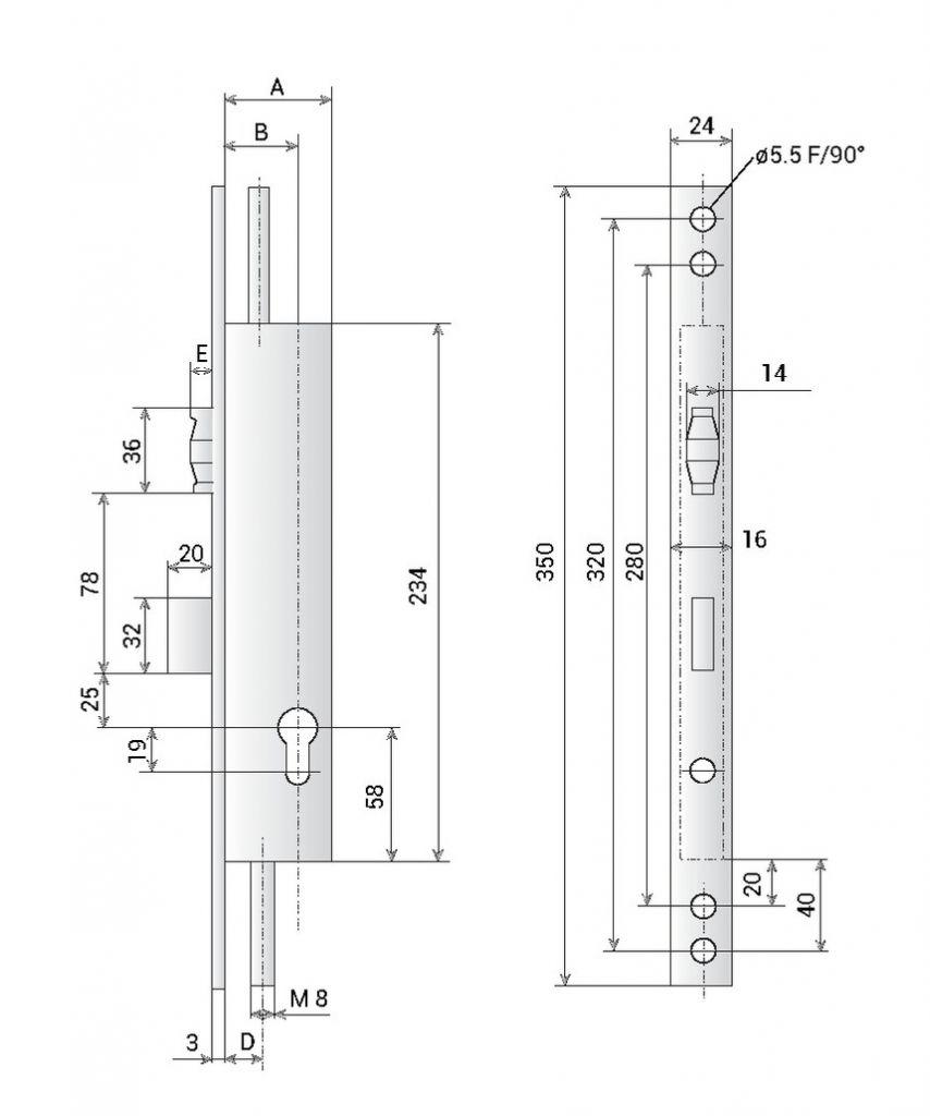 COF.MET.ROULEAU 3PTS EA92 T8/39 SG