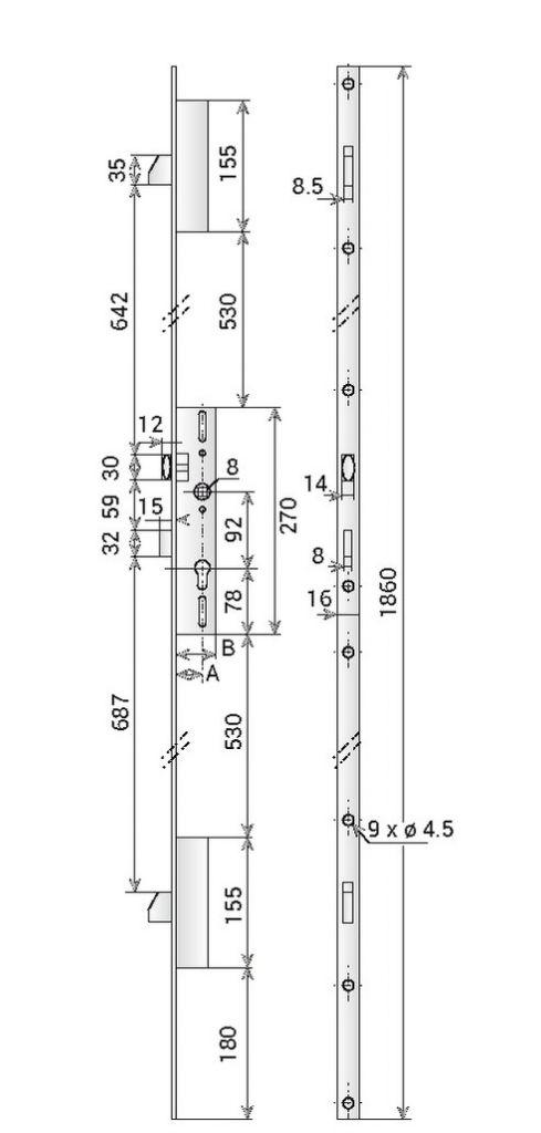 COFFRE 3PTS AX.21 8/92 T.U 6370-36