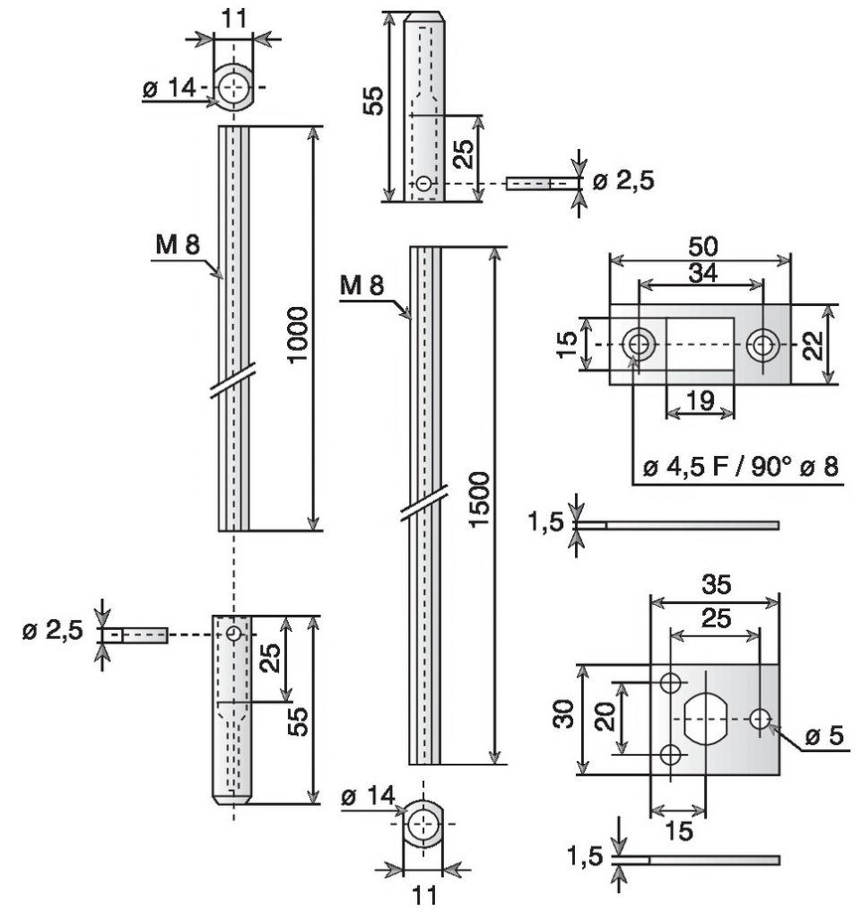 Serrure pour menuiserie métallique : Ensemble 2837.00.0