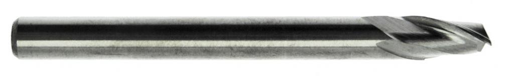 Fraise carbure : Fraise 2 dents carbure pour aluminium - queue cylindrique