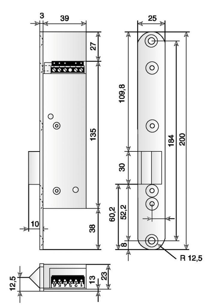 GACHE ELEC 351 48V RUPT.AV CONT.POS
