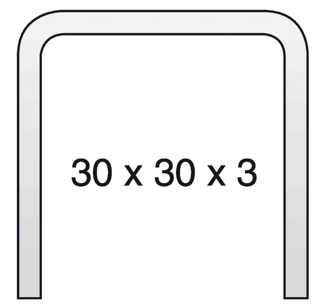 RAIL DE GUIDAGE 30X30X3 6M LARGE