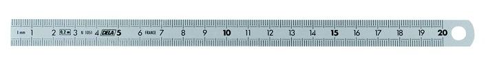 Réglet flexible 2 faces - inox mat