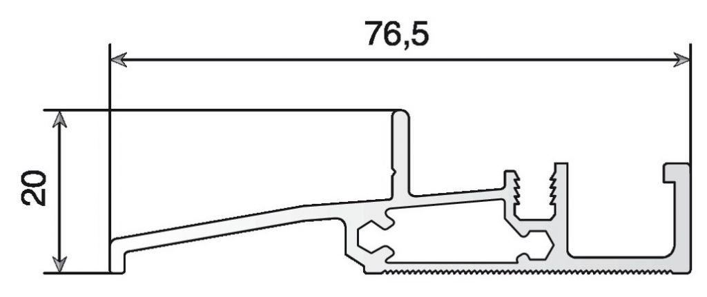 SEUIL SP56 ALU BRUT P/MEN.56 LE ML