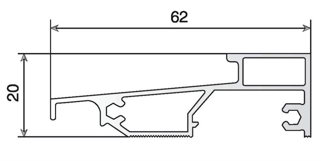SEUIL P/ALU-PVC ANODISE INC.PLT 2