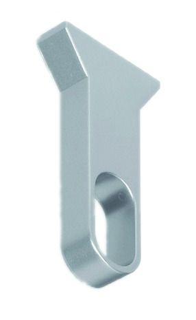 Accessoire pour penderie : Tube ovale alu avec insert caoutchouc