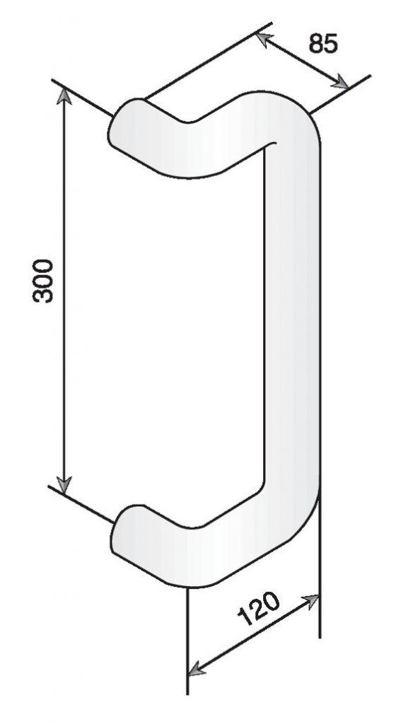 POIGNEE D.34 EA300 STG87 BLANC 19