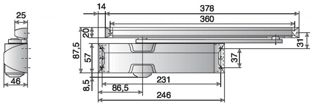 FERME PORTE TS90 IMPULSE BLANC F3/4