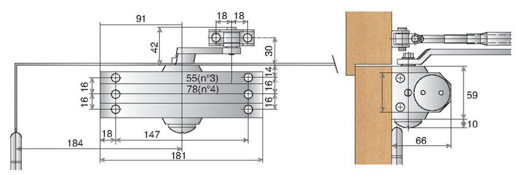 Ferme-porte à crémaillère Levasseur : Ferme-porte RS 90