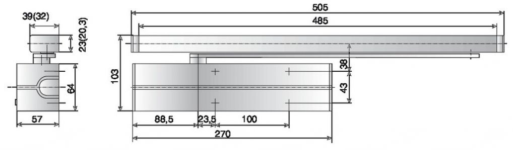 Ferme-porte Vachette : Ferme-porte DC 700