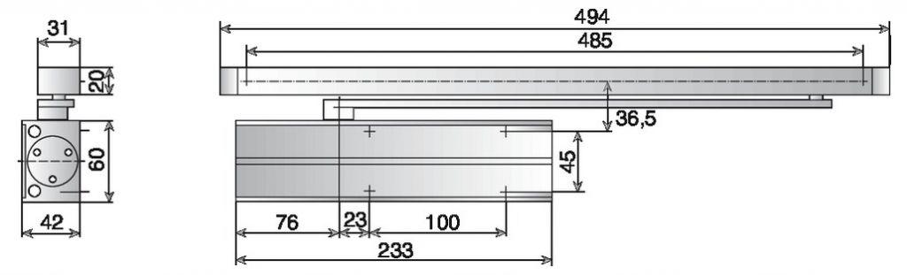 Ferme-porte Vachette : Ferme-porte DC 130