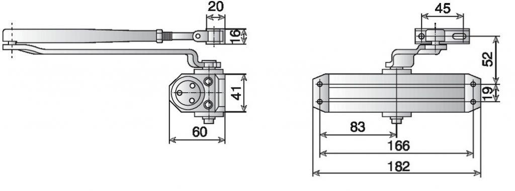 Ferme-porte Vachette : Ferme-porte DC 110