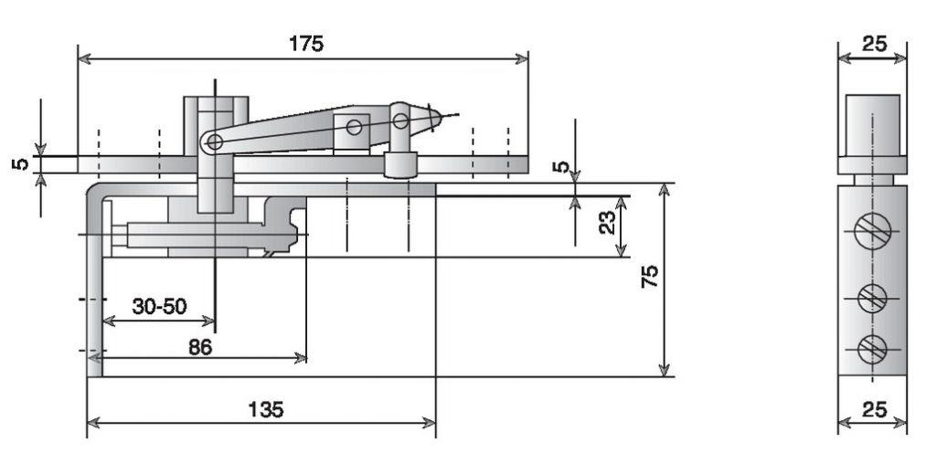 FERRURE D.A.HAUT   PR TS500