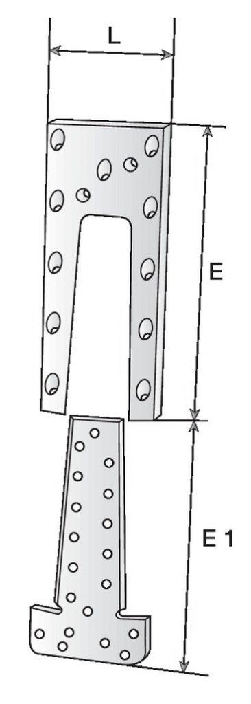 Connecteur métallique assemblage bois : Etrier à queue d'aronde - ETB