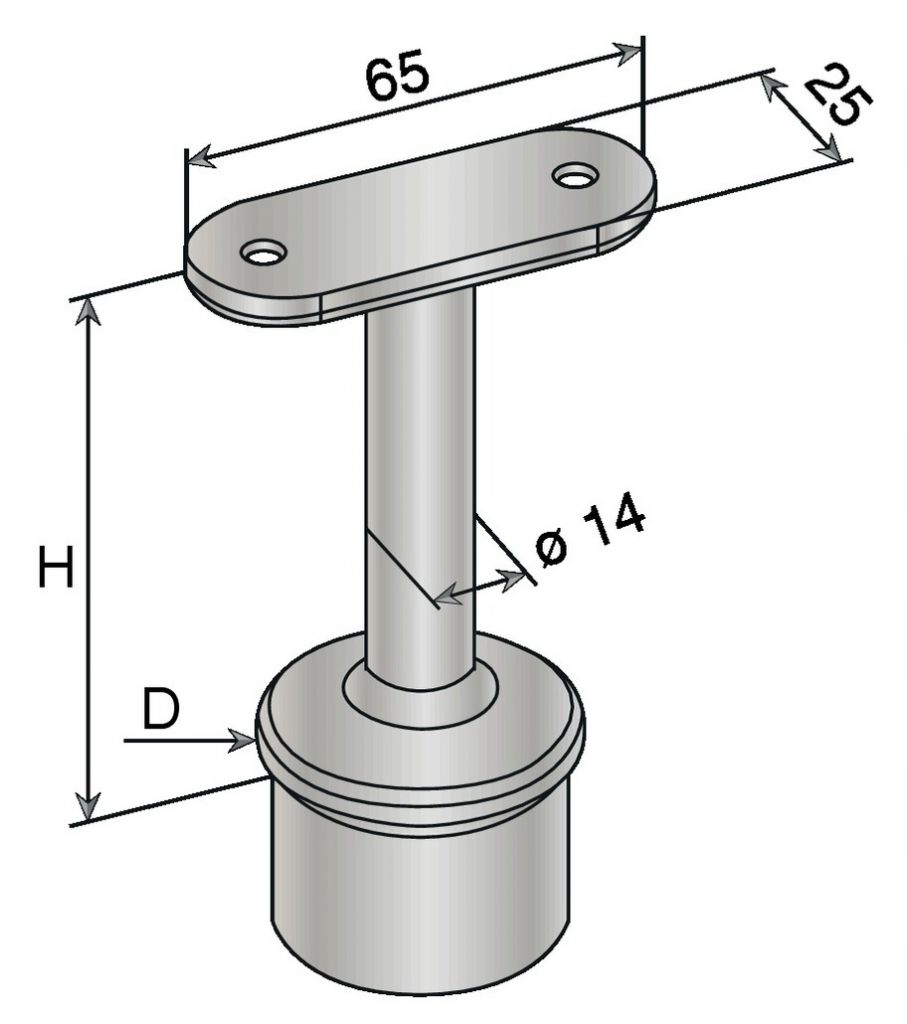 SUP. PLAT A COLLER TUBE 42,4X2 304
