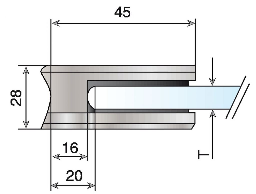 PINCE P/TUBE 42,4 VERRE 8,76 316-21