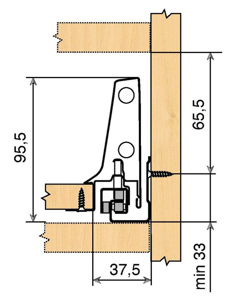 Tiroir complet monté standard Blum - antaro - BLUMOTION : antaro gris hauteur M