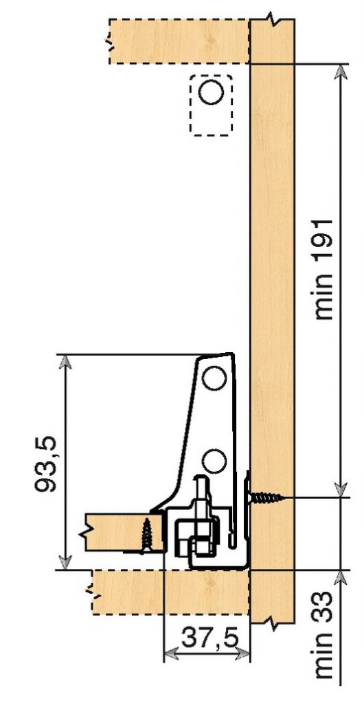 Tiroir complet monté standard Blum - antaro - BLUMOTION : antaro gris hauteur D