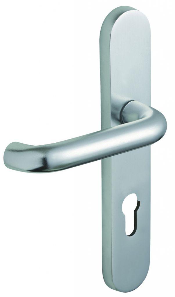 Ensemble aluminium anodisé : Plaque 220 x 42 mm - finition argent