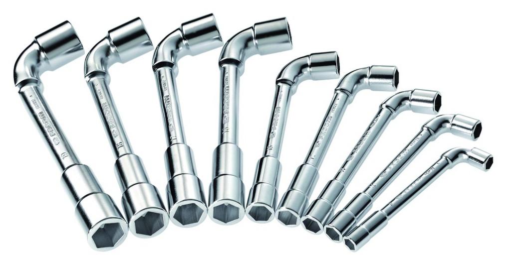 Clé à pipe : Jeu de 9 clés à pipe 6 x 6 pans - 75.J9PB