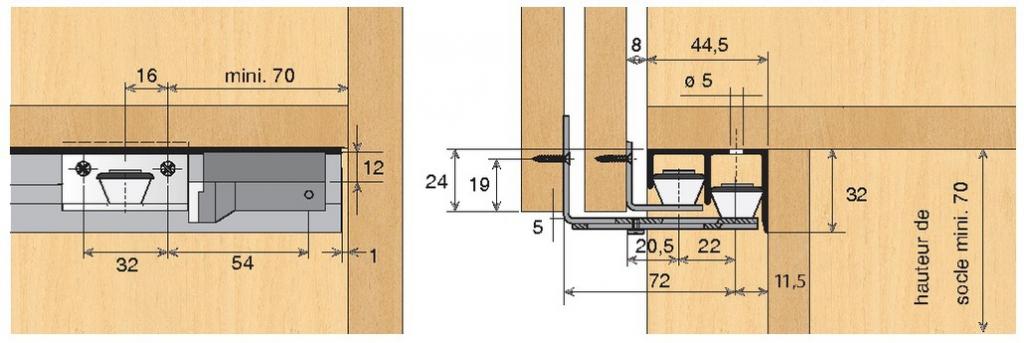 KIT GUIDAGE BAS STB11P/TOPLINE22/2V