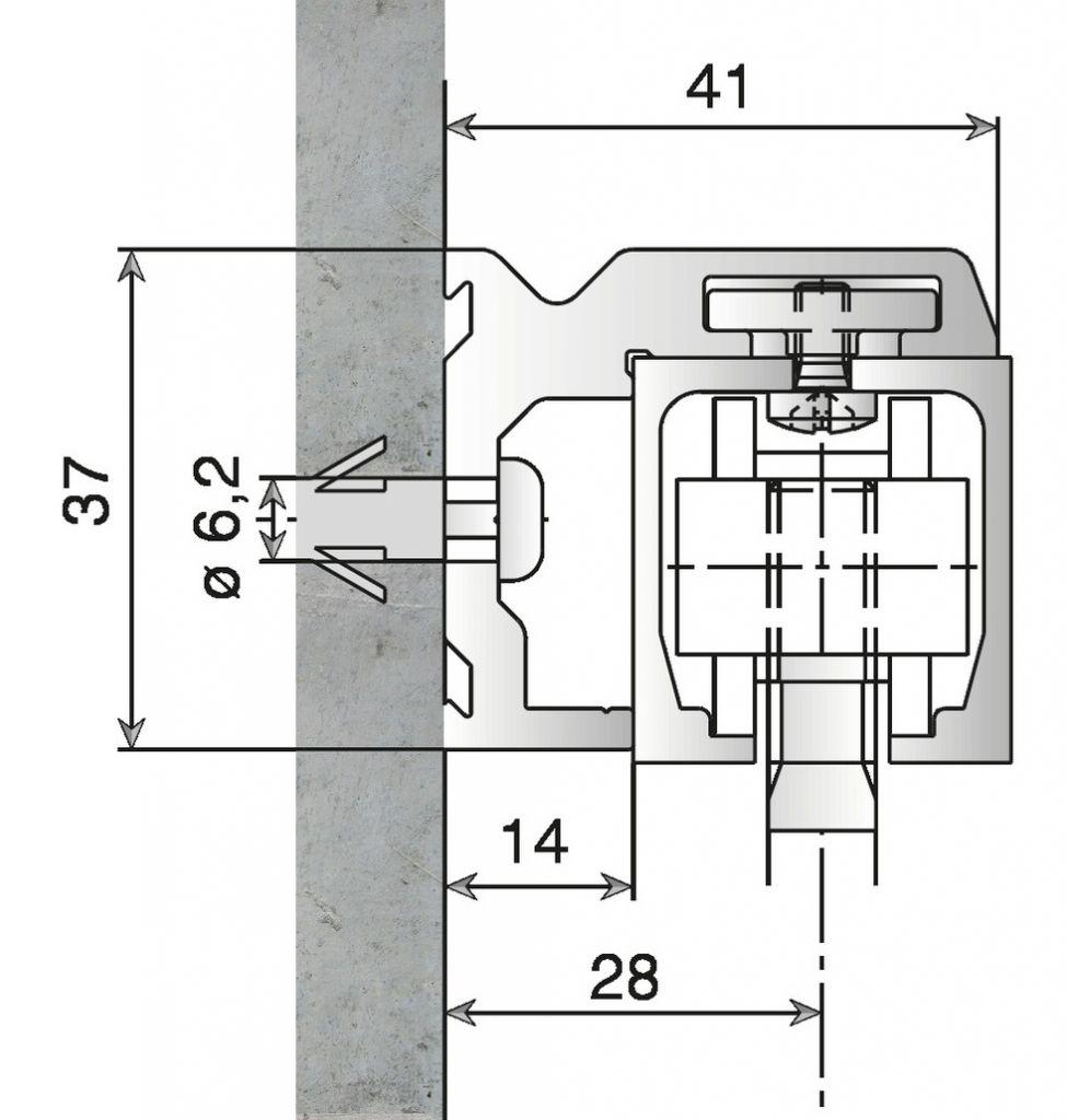 PROF.EQ P/RAIL JUNIOR 40KG LG2000MM