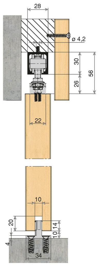 Coulissant porte intérieure bois : Hawa Junior - 40 kg