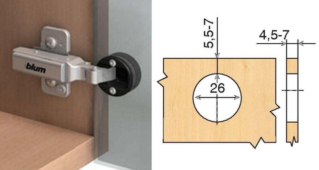 Rotation : Porte encastrée - ouverture 94°