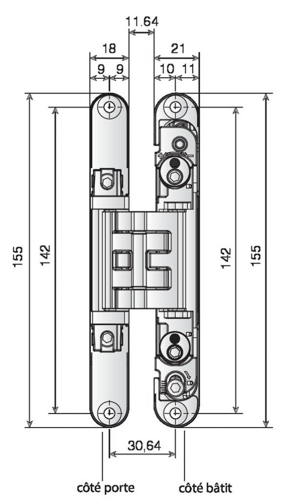 CHARNIERE KUBICA K2400 CHR.SAT.REV