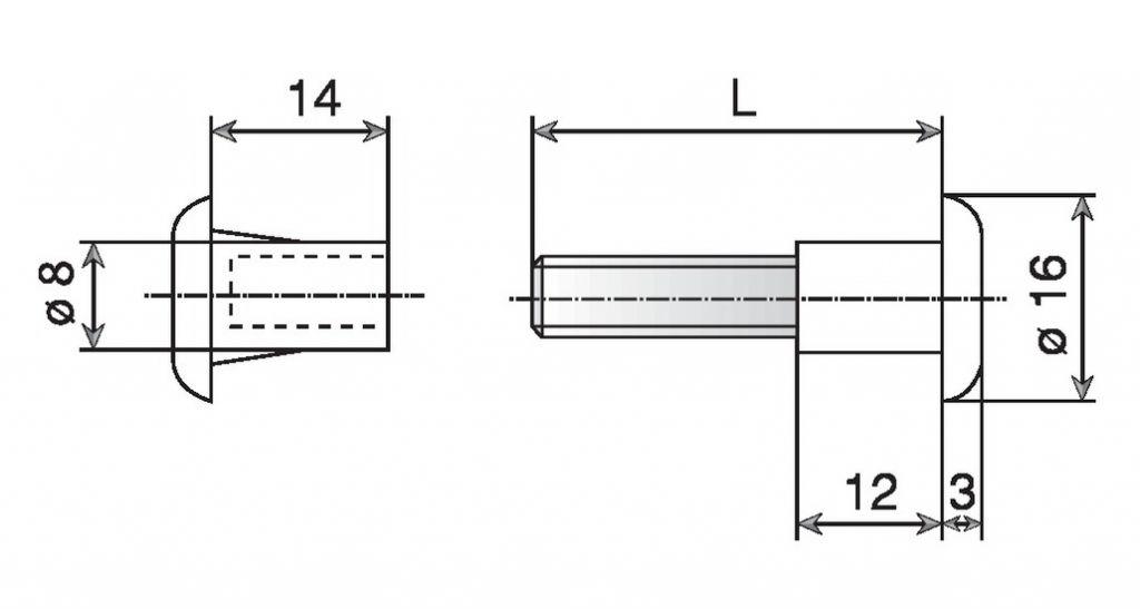 VIS DE LIAISON PLAST.BL.SER.36X45