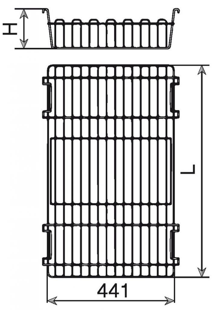 Accessoire pour penderie : Panier métal pour cadre coulissant