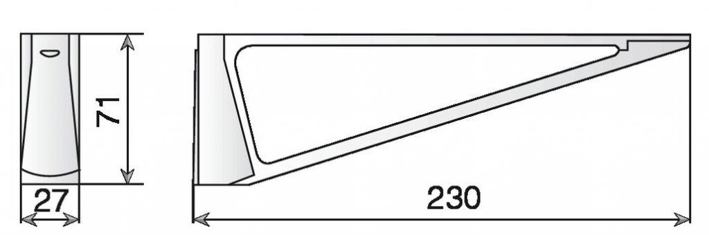 CONSOLE MS01431 LG230X71 CHR.BR