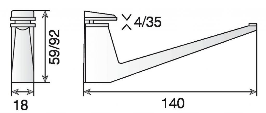 CONSOLE MS01433 LG140X75 CHR.BR