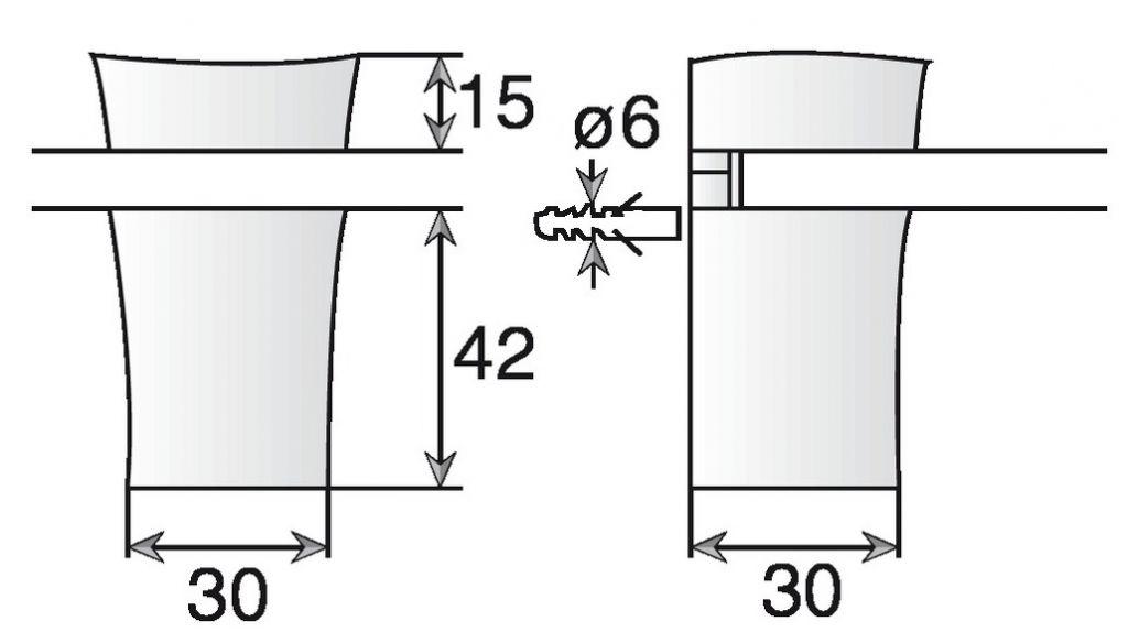 CONSOLE 2452 EP 3A26 GRIS ALU (X2)