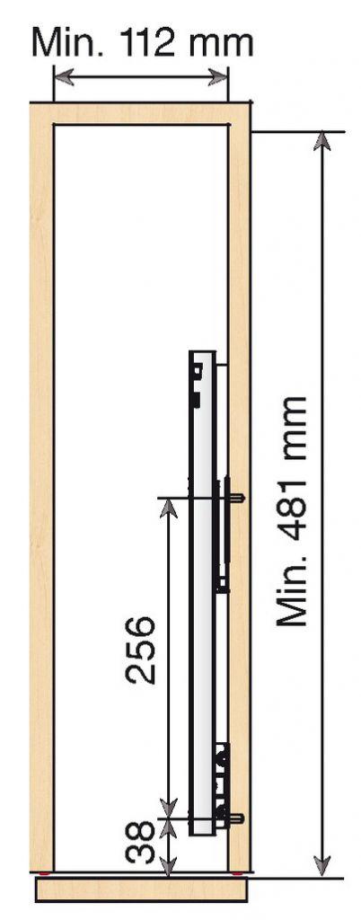 COULISSANT 150 MM/ 2 NIVEAUX
