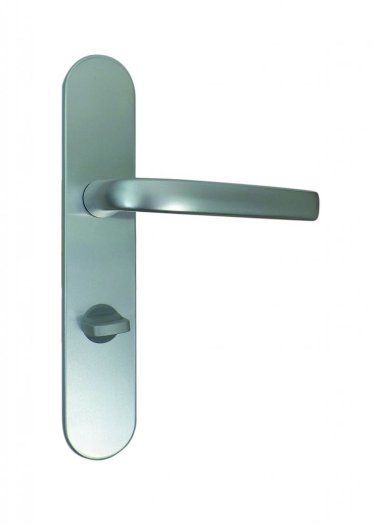Ensemble aluminium anodisé : Plaque 229 x 42 mm - entraxe de fixation 195 mm