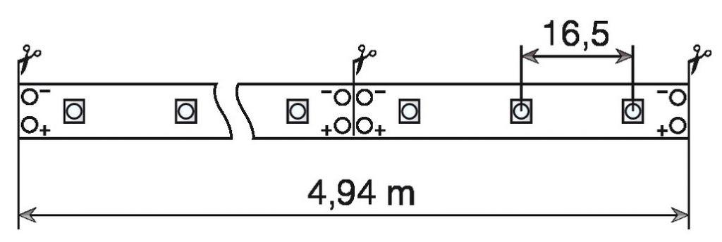 Luminaire led : Ruban souple adhésif Rolflex
