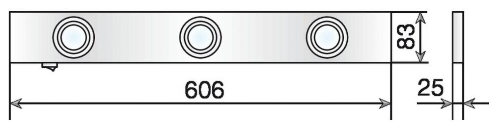 REGLETTE HALOGENE 3X20W LONG 606MM