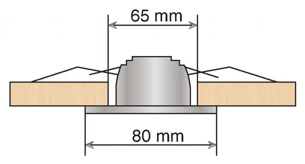 Luminaire halogène : Spot seul - spot fixe 50 W - classe III