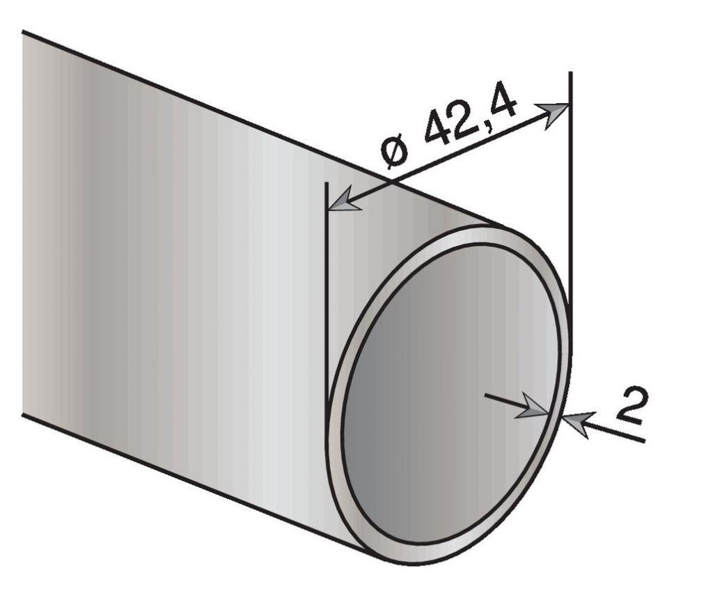 TUBE INOX 304 D42,4X2 LE METRE