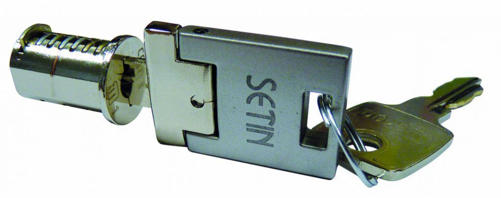 Fermeture : Cylindre avec clé escamotable et 1 clé standard